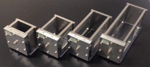 Photo of fours batch ultrasonic separators of different sizes